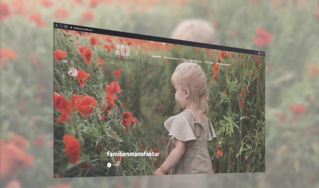 Realisierung einer neuen Internetpräsenz für die Familienmanufaktur.